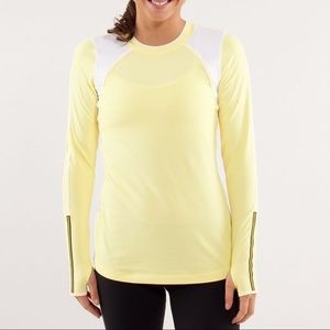 Lululemon Layer Me Long Sleeve Shirt Yellow 10